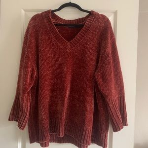 Zara Chenille Oversized Sweater Small